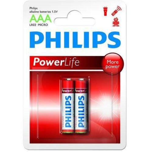 Купить Батарейка Philips PowerLife LR03-P2B