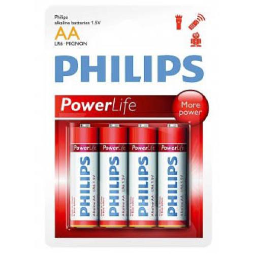 Купить Батарейка Philips PowerLife LR06-P4B