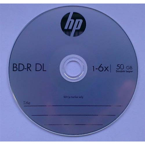 Купить BD-R DL HP 50GB Cake10 6x