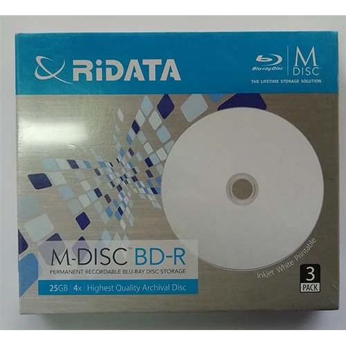 Купить BD-R Ridata M-Disk 25Gb Slim Box 4x Print