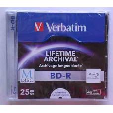 BD-R Verbatim M-Disk 25Gb Jewel Box 4x Print