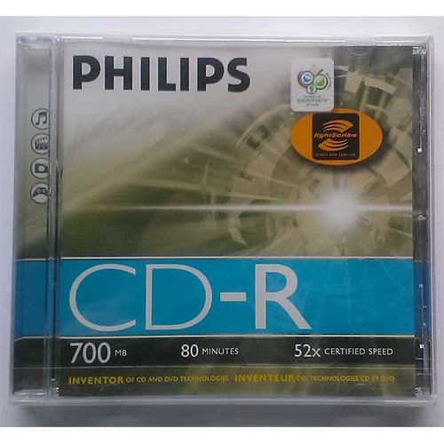 Купить CD-R Philips 700Mb Jewel Box 52x LIGHTSCRIEBE