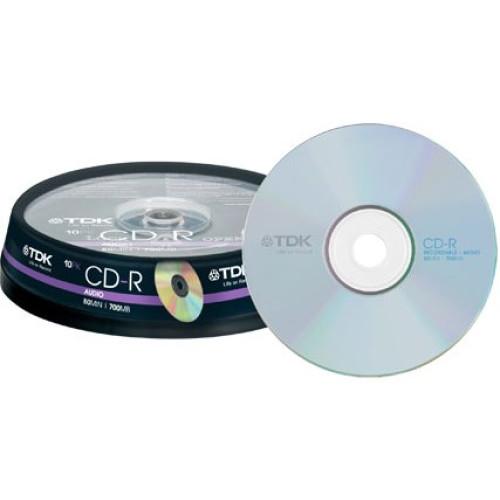 Купить CD-R TDK 700Mb Cake10 AUDIO