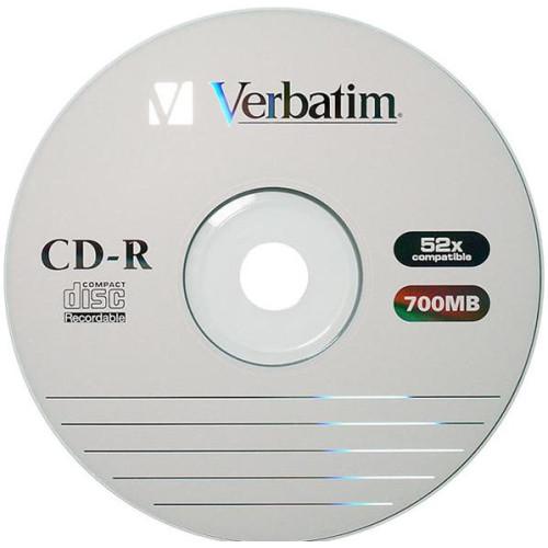 Купить CD-R Verbatim 700Mb Bulk50 EP 52x Wrap