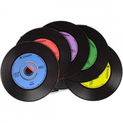 Купить CD-R Verbatim 700MB Vinyl Slim Box