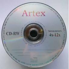 CD-RW Artex 700Mb Bulk50 12x