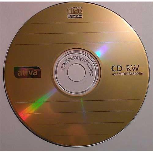 Купить CD-RW Ativa 700MB Cake25 12x