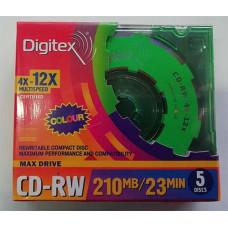 CD-RW Digitex 210Mb Slim Box 4-12x