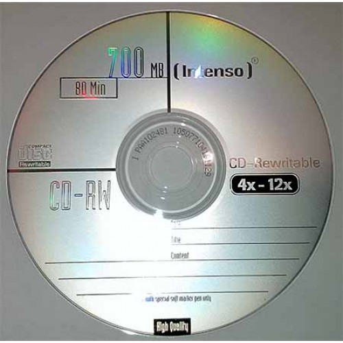 Купить CD-RW Intenso 700MB Cake10 12x