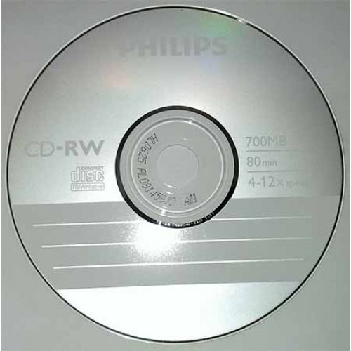 Купить CD-RW Philips 700MB Cake25 12x