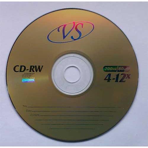 Купить CD-RW VS 700Mb Bulk50 12x