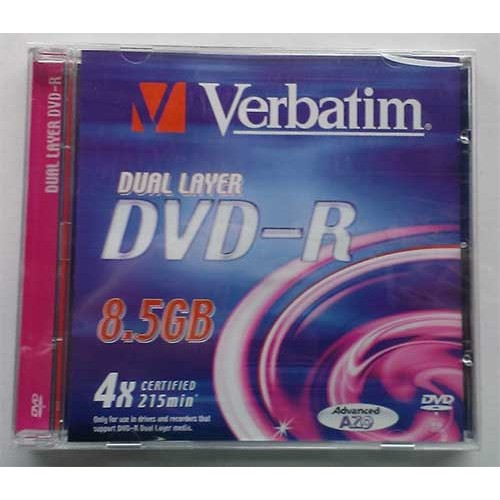 Купить DVD-R 8.5GB DL Verbatim Jewel Box 8x