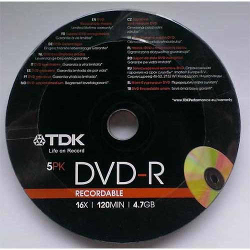 Купить DVD-R TDK 4.7GB Bulk5 16x