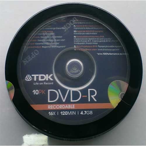 Купить DVD-R TDK 4.7GB Cake10 16x