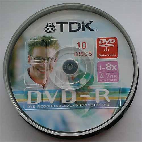Купить DVD-R TDK 4.7GB Cake10 8x