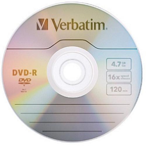 Купить DVD-R Verbatim 4.7GB Bulk50 16x Wrap 43791