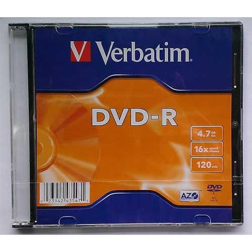 Купить DVD-R Verbatim 4.7GB Slim 16x #43547