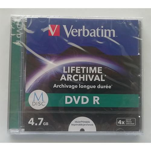 Купить DVD-R Verbatim M-DISK 4.7GB Jewel 4x Printable