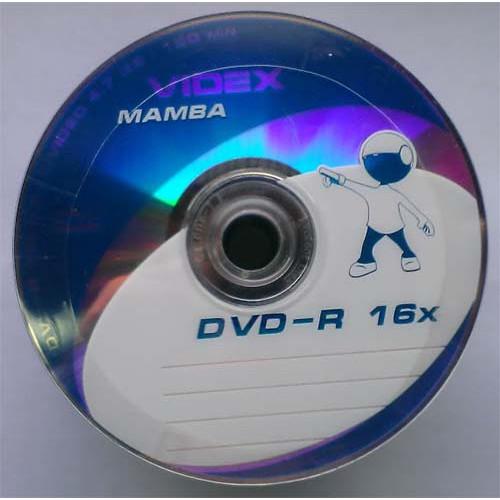 Купить DVD-R Videx 4.7GB Bulk50 16x Mamba