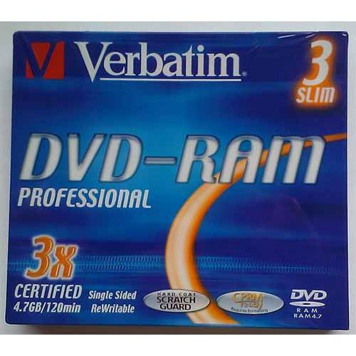 Купить DVD-RAM Verbatim 4.7GB Slim 3x