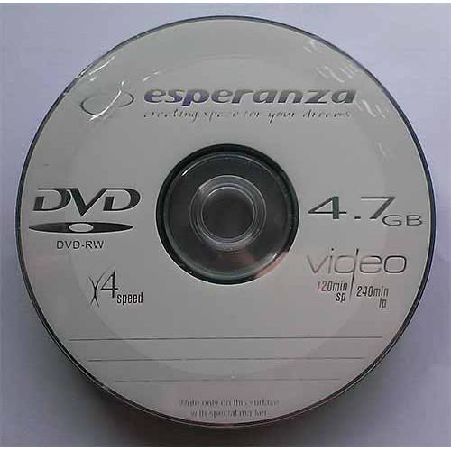 Купить DVD-RW Esperanza 4.7GB Bulk50 4x