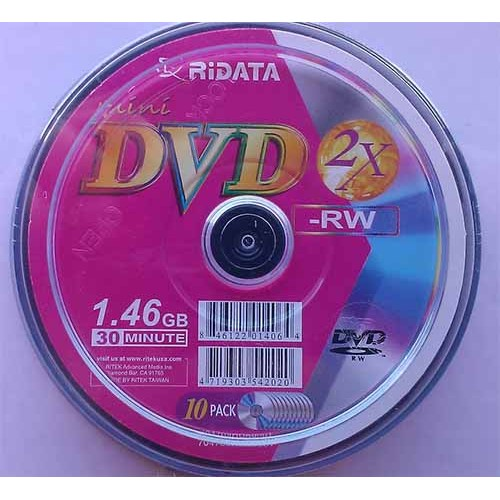 Купить DVD-RW Ridata 1.4GB Cake10 2x