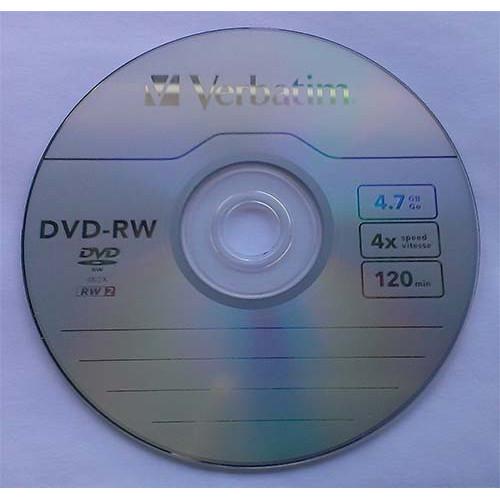 Купить DVD-RW Verbatim 4.7GB Cake25 4x