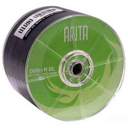 Купить DVD+R 8.5GB DL Arita Bulk50 8x Green