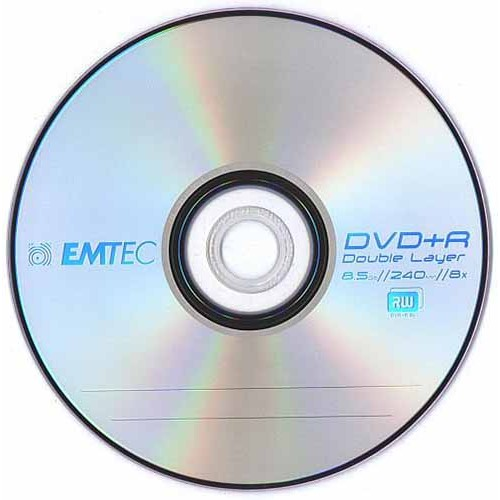 Купить DVD+R 8.5GB DL Emtec Cake25 8x