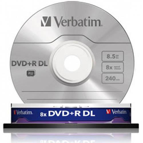 Купить DVD+R 8.5GB DL Verbatim Cake10 8x