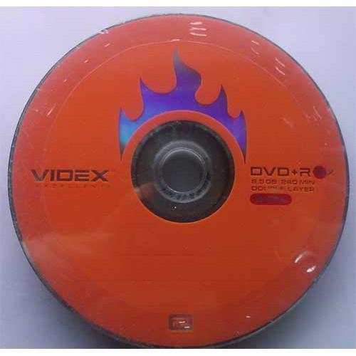 Купить DVD+R 8.5GB DL Videx Bulk10 8x