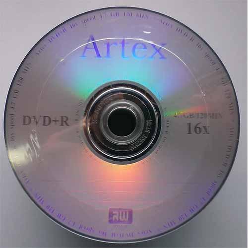 Купить DVD+R Artex 4.7GB Bulk50 16x