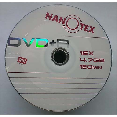Купить DVD+R Nanotex 4.7GB Bulk50 16x