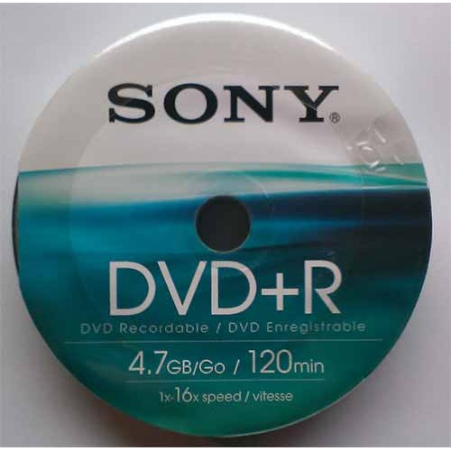 Купить DVD+R Sony 4.7GB Bulk10 16x