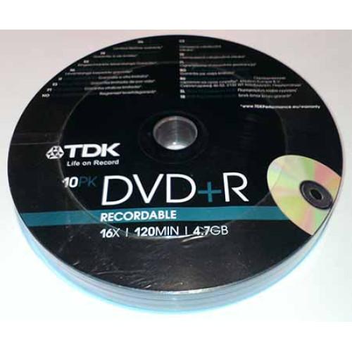 Купить DVD+R TDK 4.7GB Bulk10 16x