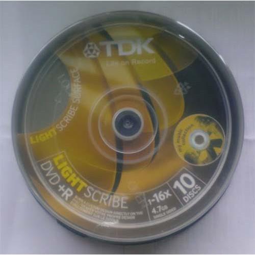 Купить DVD+R TDK 4.7GB Cake10 16x LightScriebe