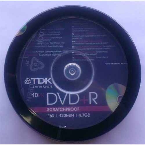 Купить DVD+R TDK 4.7GB Cake10 16x SPA