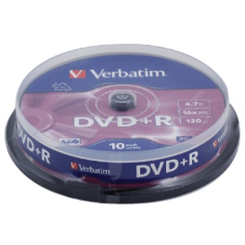 Купить DVD+R Verbatim 4.7GB Cake10 16x