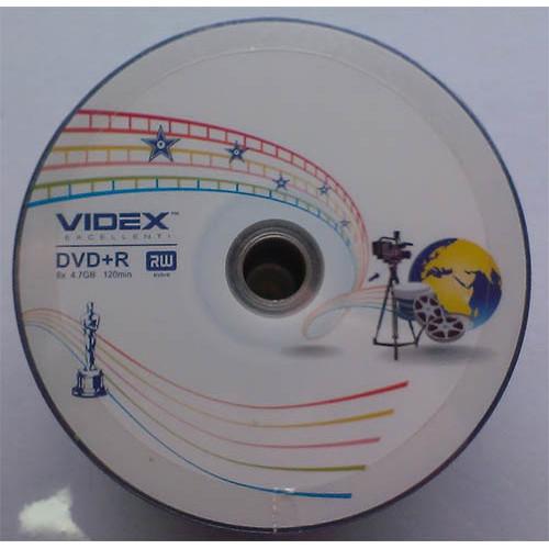 Купить DVD+R Videx 4.7GB Bulk50 16x Media