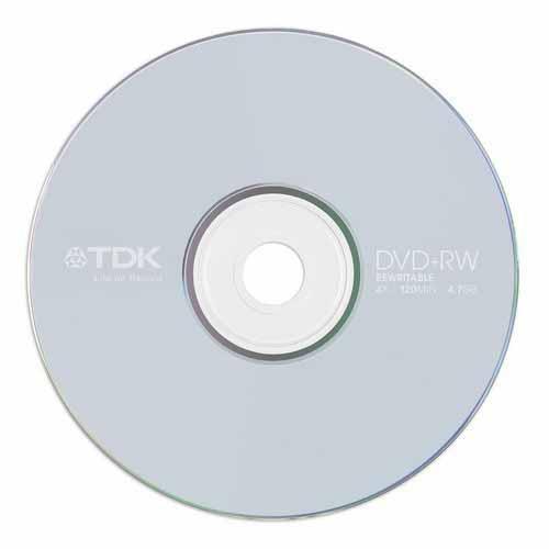 Купить DVD+RW TDK 4.7GB Cake10 4x