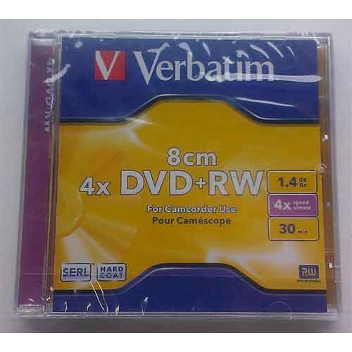 Купить DVD+RW Verbatim 1.4GB Slim 4x 3pack