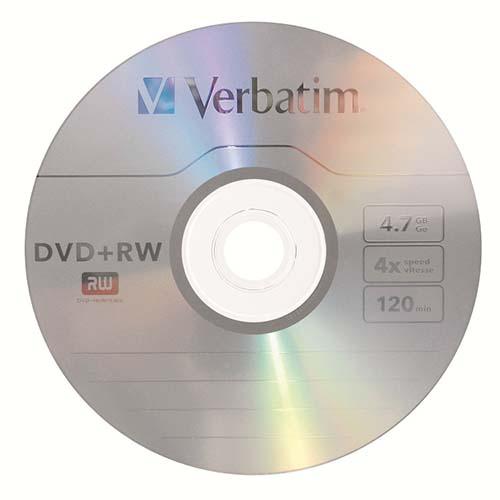Купить DVD+RW Verbatim 4.7GB Cake25 4x