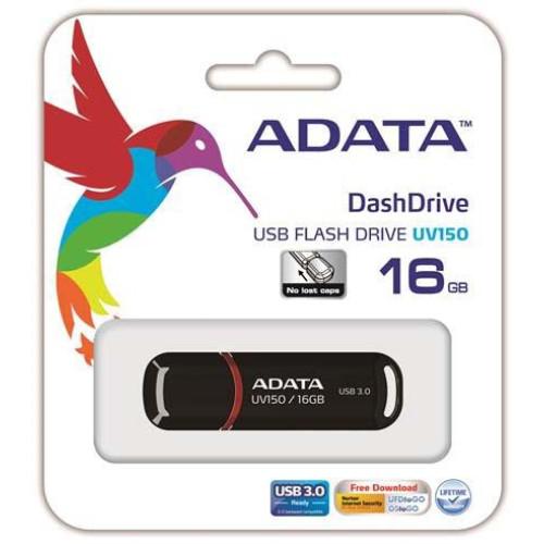 Купить Flash A-Data 16GB UV150 Black USB 3.0