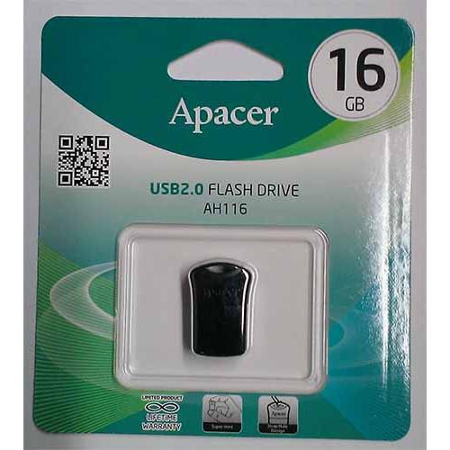 Купить Flash Apacer 16GB AH116 Black