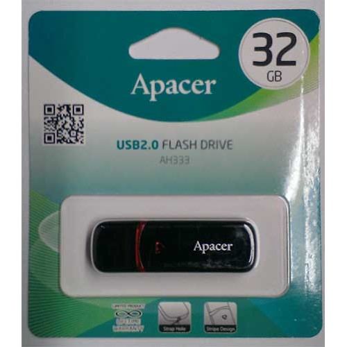 Купить Flash Apacer 32GB AH333 Black