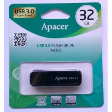 Flash Apacer 32GB AH355 Black USB 3.0