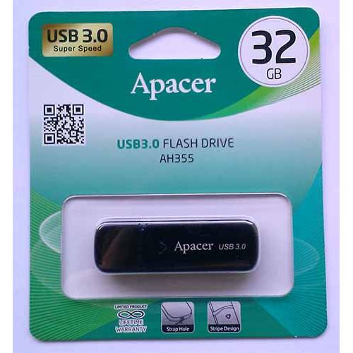 Купить Flash Apacer 32GB AH355 Black USB 3.0