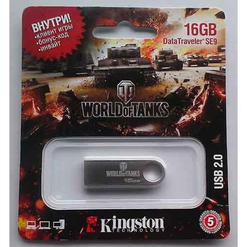 Купить Flash Kingston 16GB SE9 Silver World of Tanks