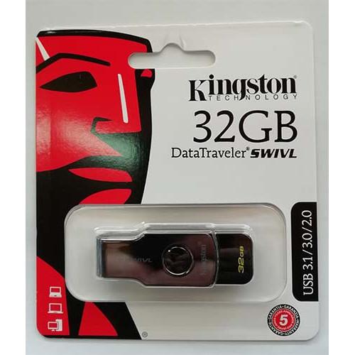 Купить Flash Kingston 32GB Swivl Black USB 3.0