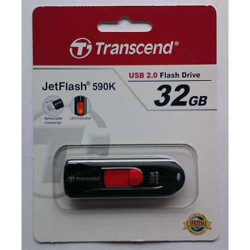 Купить Flash Transcend 32GB 590 Black